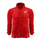 Fleece Full Zip Red Jacket-Pacific University Oregon w/Boxer