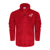 Columbia Full Zip Red Fleece Jacket-Pacific University Oregon w/Boxer