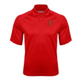 Red Textured Saddle Shoulder Polo-P
