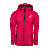 Ladies Dark Fuchsia Waterproof Jacket-Pacific University Oregon w/Boxer