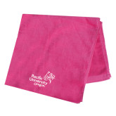 Pink Beach Towel-Pacific University Oregon w/Boxer
