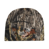 Mossy Oak Camo Fleece Beanie-Pacific University Oregon w/Boxer