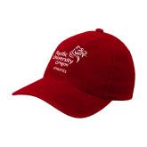 Red Flexfit Structured Low Profile Hat-Pacific University Oregon w/Boxer