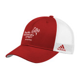 Adidas Red Structured Adjustable Hat-Pacific University Oregon w/Boxer