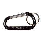 Black Carabiner with Split Ring-Pacific University Boxers Engraved