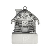 Pewter House Ornament-P Engraved