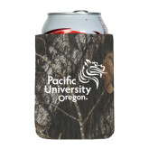 Collapsible Mossy Oak Camo Can Holder-Pacific University Oregon w/Boxer
