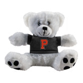 Plush Big Paw 8 1/2 inch White Bear w/Black Shirt-P