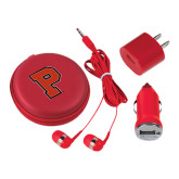 3 in 1 Red Audio Travel Kit-P