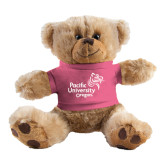 Plush Big Paw 8 1/2 inch Brown Bear w/Pink Shirt-Pacific University Oregon w/Boxer
