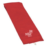 Red Golf Towel-Pacific University Oregon w/Boxer