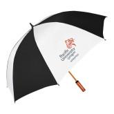 62 Inch Black/White Umbrella-Pacific University Oregon w/Boxer