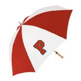 62 Inch Red/White Umbrella-P