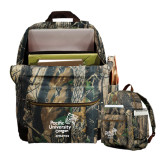 Heritage Supply Camo Computer Backpack-Pacific University Oregon w/Boxer