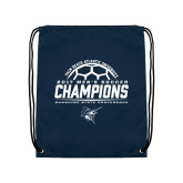 Navy Drawstring Backpack-2017 Mens Soccer Champions