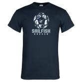 Navy T Shirt-Soccer Ball Design