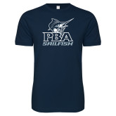 Next Level SoftStyle Navy T Shirt-PBA Sailfish Stacked