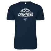 Next Level SoftStyle Navy T Shirt-2017 Mens Soccer Champions