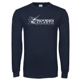 Navy Long Sleeve T Shirt-Palm Beach Atlantic University