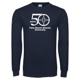 Navy Long Sleeve T Shirt-50 years