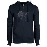 ENZA Ladies Navy Fleece Full Zip Hoodie-Sailfish
