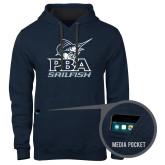 Contemporary Sofspun Navy Heather Hoodie-PBA Sailfish Stacked