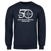 Navy Fleece Crew-50 years