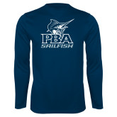 Performance Navy Longsleeve Shirt-PBA Sailfish Stacked