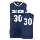 Replica Navy Adult Basketball Jersey-#30