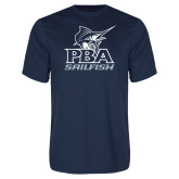Performance Navy Tee-PBA Sailfish Stacked