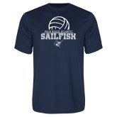 Syntrel Performance Navy Tee-Volleyball Ball Design