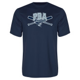 Performance Navy Tee-Baseball Crossed Bats Design