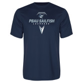Performance Navy Tee-Geometric Lacrosse Design