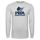 White Long Sleeve T Shirt-PBA Sailfish Stacked