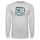 White Long Sleeve T Shirt-50 years