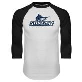 White/Black Raglan Baseball T-Shirt-Grandpa