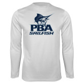 Performance White Longsleeve Shirt-PBA Sailfish Stacked