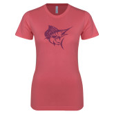 Next Level Ladies SoftStyle Junior Fitted Pink Tee-Sailfish