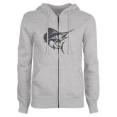 ENZA Ladies Grey Fleece Full Zip Hoodie-Sailfish