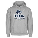 Grey Fleece Hoodie-PBA Sailfish Stacked