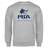 Grey Fleece Crew-PBA Sailfish Stacked