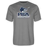 Performance Grey Concrete Tee-PBA Sailfish Stacked