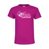Youth Fuchsia T Shirt-Primary Mark