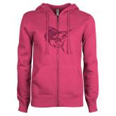 ENZA Ladies Fuchsia Fleece Full Zip Hoodie-Sailfish