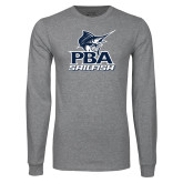Grey Long Sleeve T Shirt-PBA Sailfish Stacked