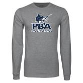 Grey Long Sleeve T Shirt-PBA Sailfish Stacked
