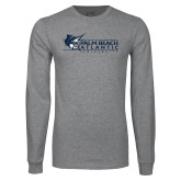 Grey Long Sleeve T Shirt-Palm Beach Atlantic University