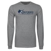 Grey Long Sleeve T Shirt-Palm Beach Atlantic University