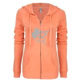 ENZA Ladies Coral Light Weight Fleece Full Zip Hoodie-Sailfish