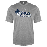 Performance Grey Heather Contender Tee-Primary Mark